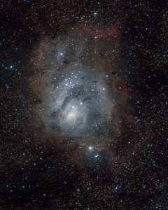 astrophotography of M8