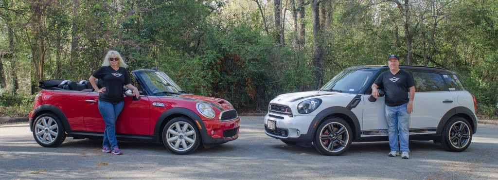 My wife and I with our MINIs, not from Wiesner Huntsville.