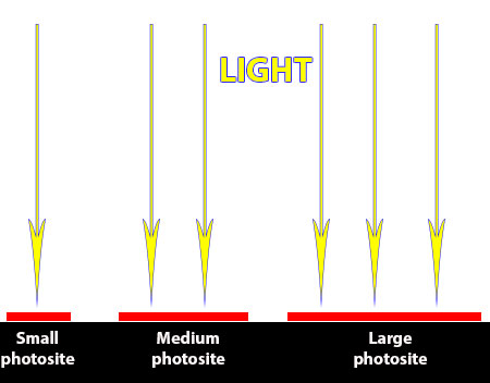 photosite size comparison