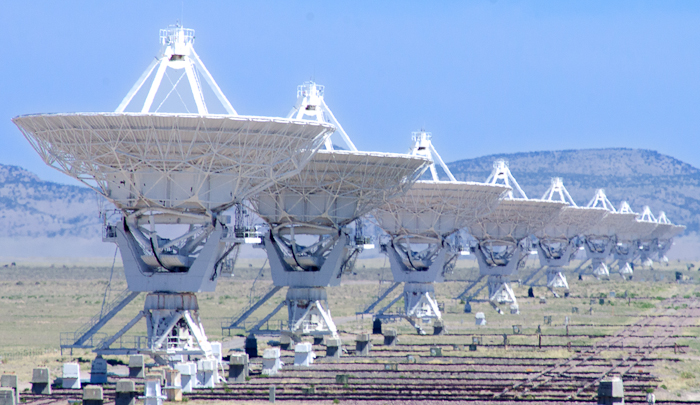 An array of radio telescopes