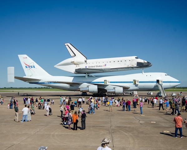 shuttle on display