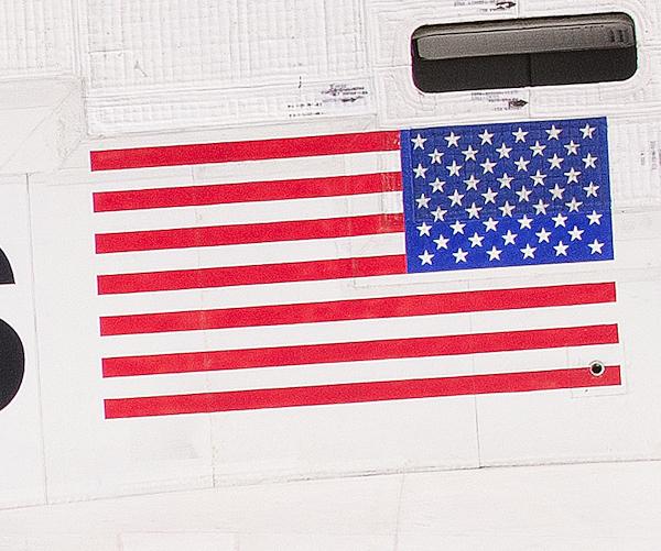 side of shuttle enlarged