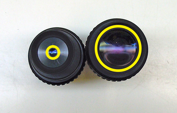 Comparing two different eyepieces