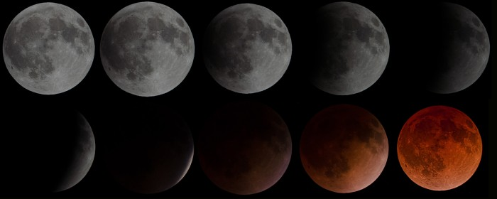 total lunar eclipse progression