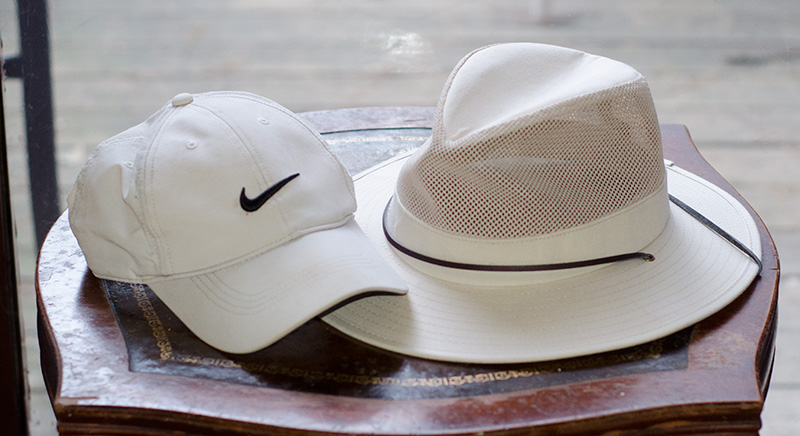 Two excellent hats for keeping your cool in the day