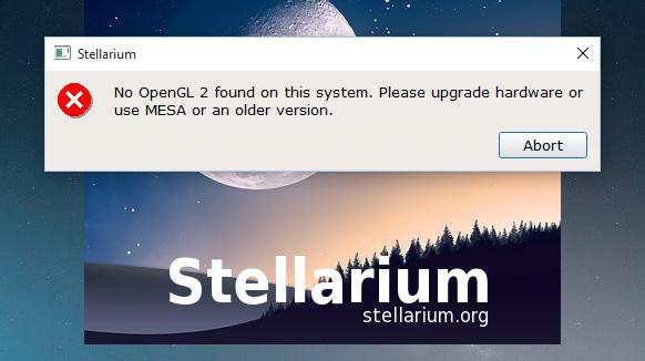 windows10-stellarium-error