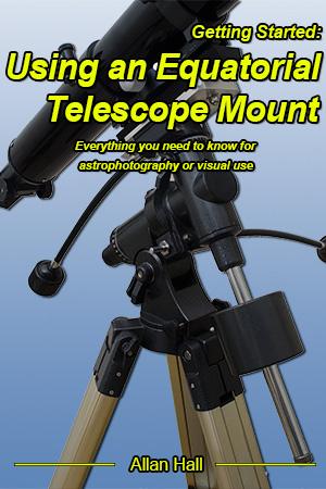 Equatorial telescope front