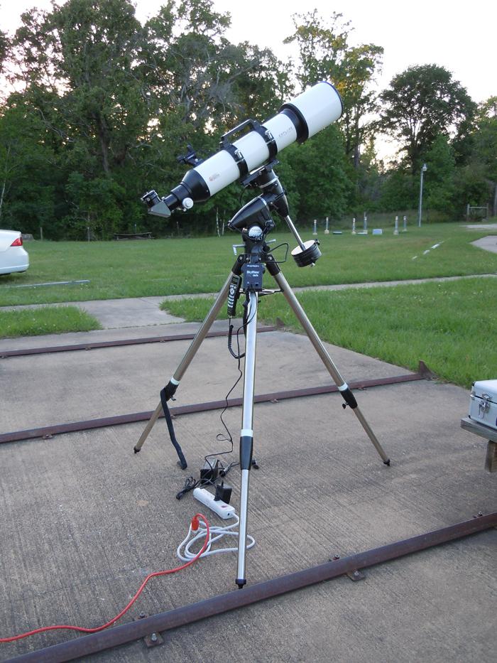 Primary visual astronomy equipment setup