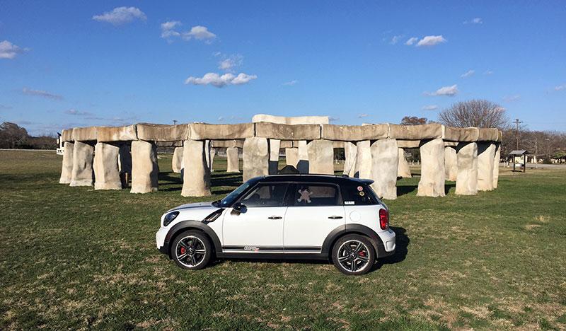 Buster at Stonehenge