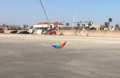 Flash Sport Kite crashing into the ground