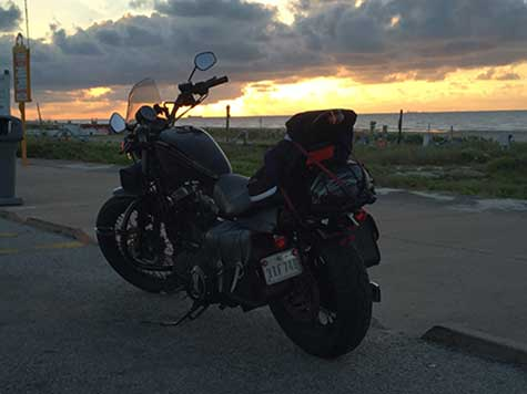 Myrtle, my Harley Davidson Nightster, not exactly astrophotography